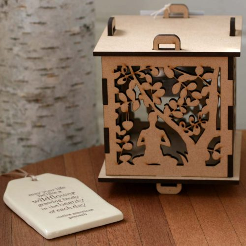 Yoga-Wooden-Night Light-with-Quote-Tag