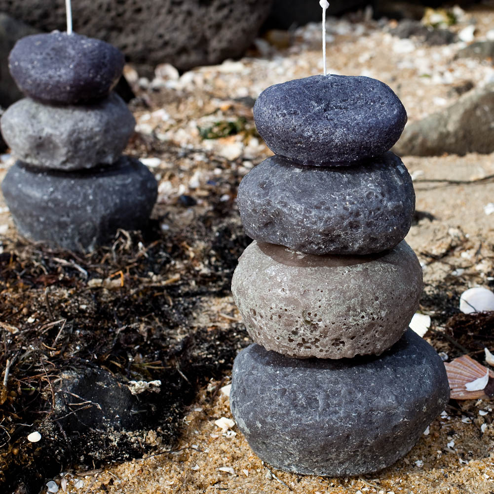 Stone Cairn Candles