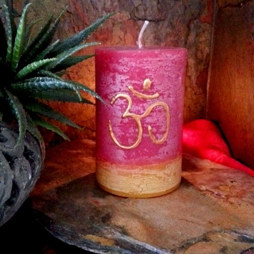 Meditation Candle on shelf