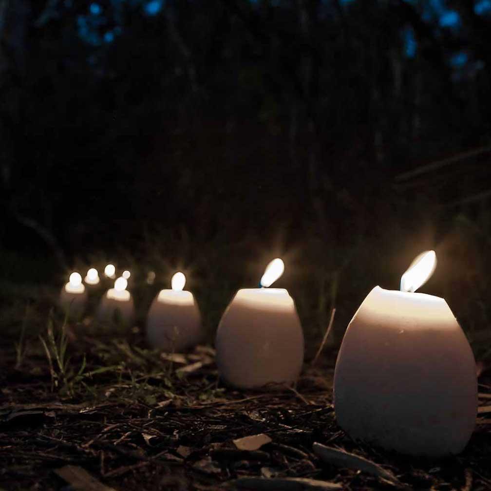 Mini Egg Candles