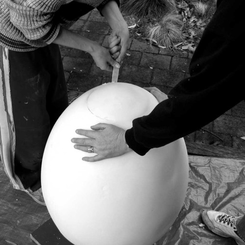 Giant-Egg-Candle---Carving-Out-The-Top