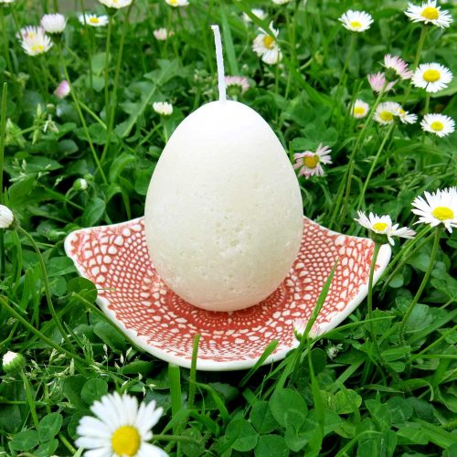 Large-Red-Porcelain-Lace-Dish-with-Ivory-Mini-Egg-Candle