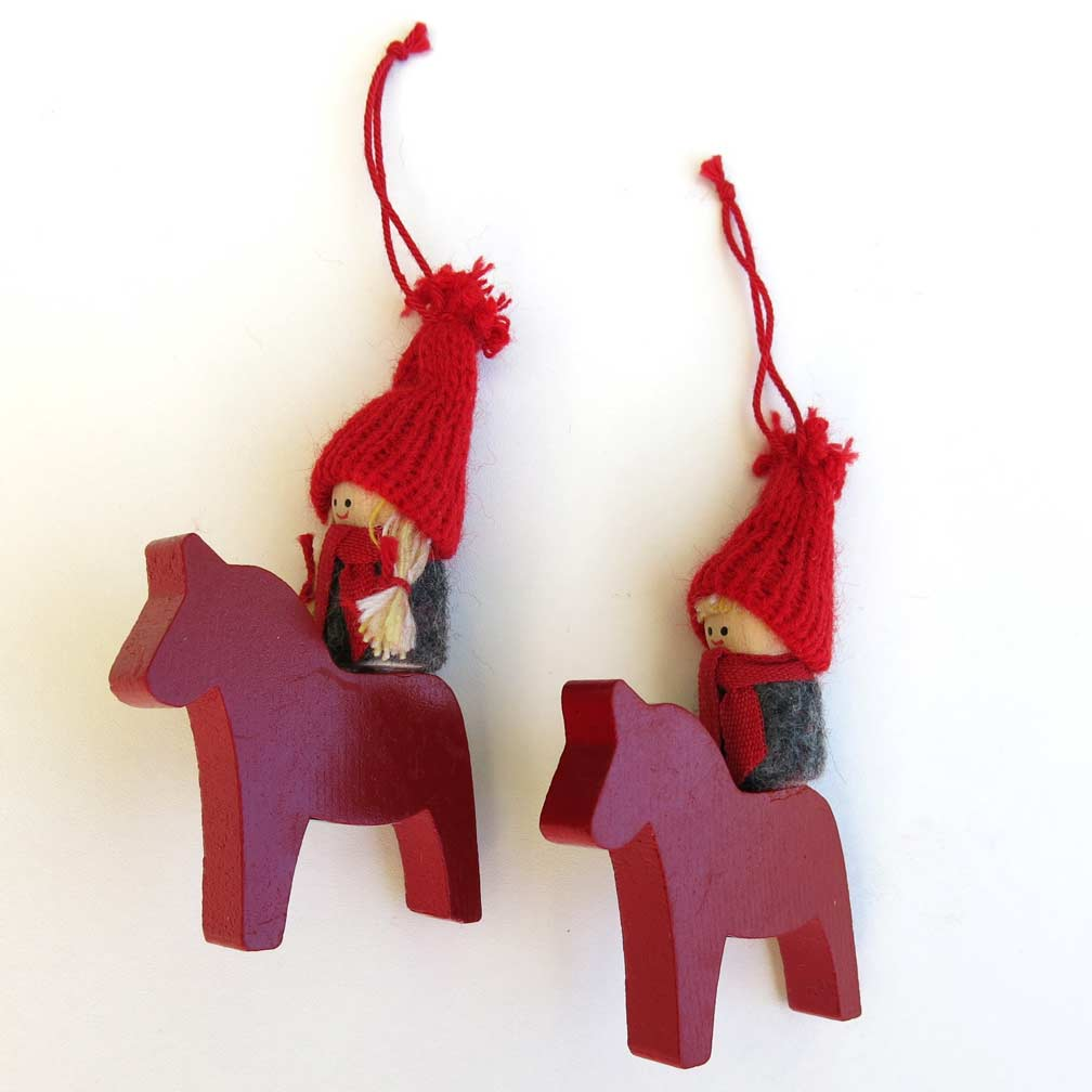 Christmas Horse Decorations.Scandinavian Christmas Decorations